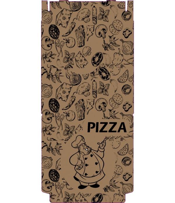 Cutie pizza Natur personalizata 32cm -100 bucati/set