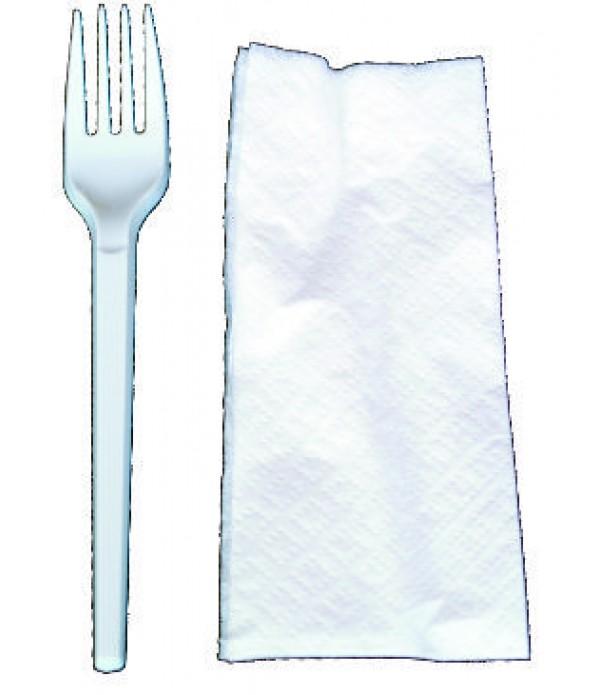 Set din plastic furculita+servetel -100 bucati